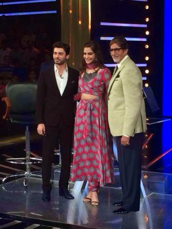 Fawad Afzal And Sonam With Amitabh Bachchan