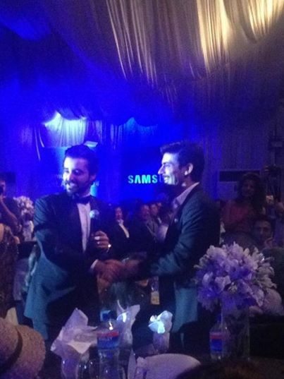 Fawad Khan And Hamza Ali Abbasi At Note 4 Pakistan Launch Event