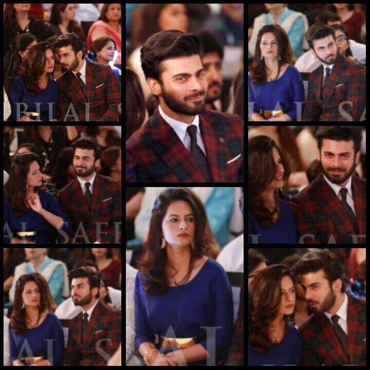 Fawad Khan And Wife Sadaf at Bridal Fashion Week 2015