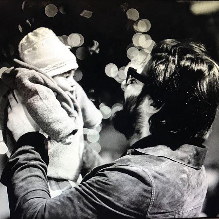 Fawad Khan Holding His Daughter Elayna