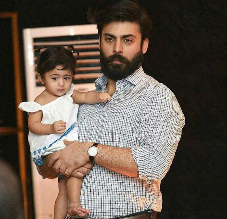 Fawad Khan With His Daughter