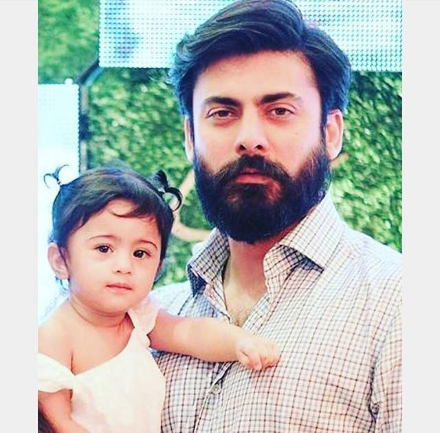 Fawad Khan With His Little Angel Elayna