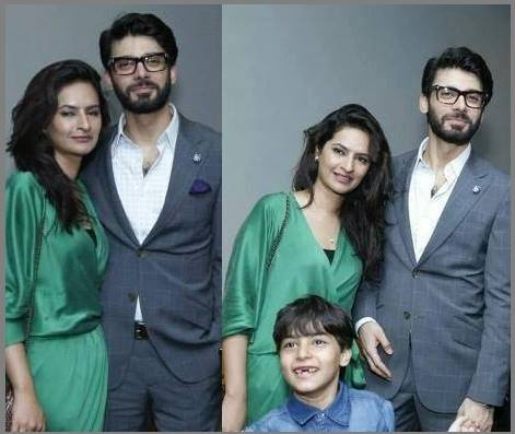Fawad Khan With His Wife And Son