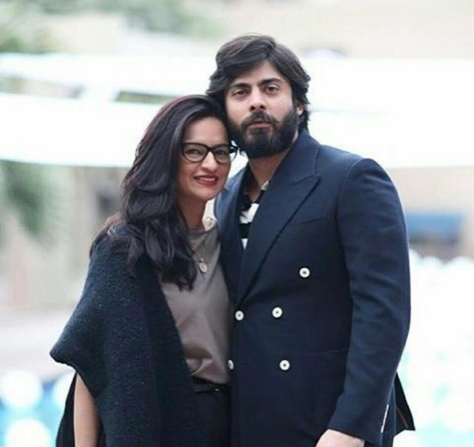 Fawad Khan With His Wife Sadaf