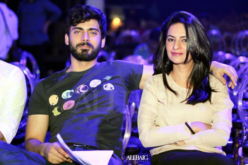 Fawad Khan With Wife At LSA Rehearsals