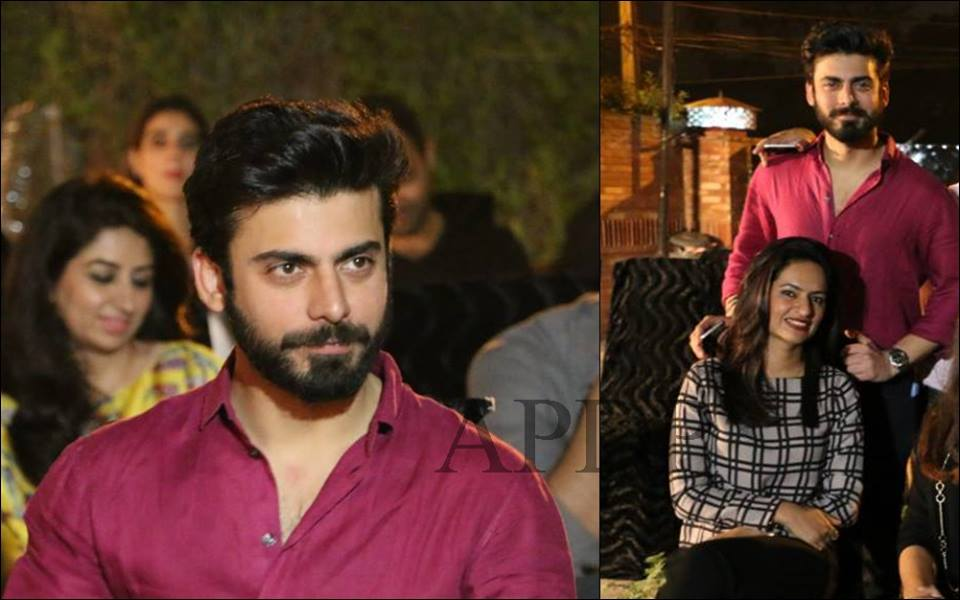Fawad Khan With Wife Spotted At Birthday of Friend