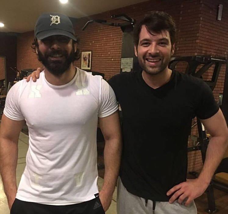 Fawad Khan & Mikaal Zulfiqar At The Gym