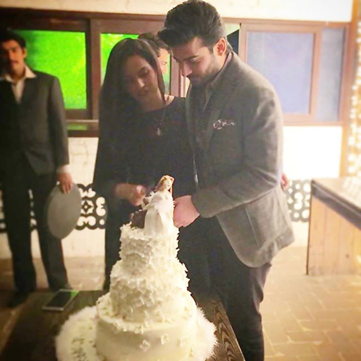 Fawad Khan and his wife celebrating their 10th wedding anniversary