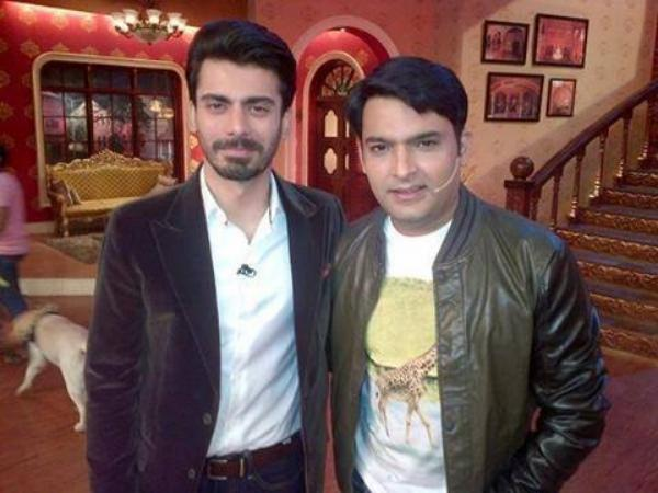 Fawad Khan with Kapil Sharma On Comedy Nights With Kapil
