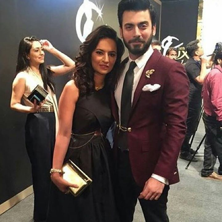 Fawad Khan with Wife at the Red Carpet of Lux Style Award 2015