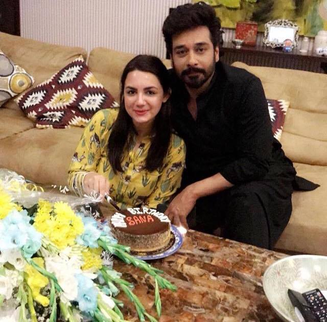 Faysal Qureshi Celebrating Birthday Of His Wife
