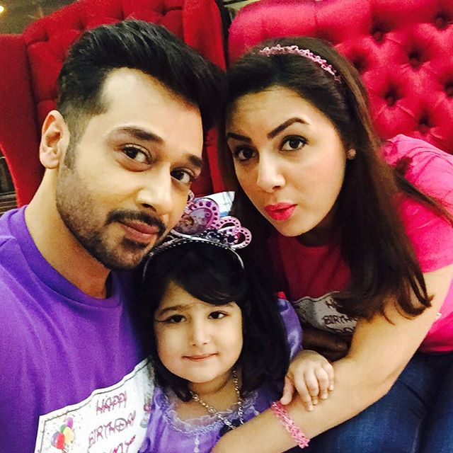 Faysal Qureshi and his wife Sana Celebrated birthday of his daughter Aayat