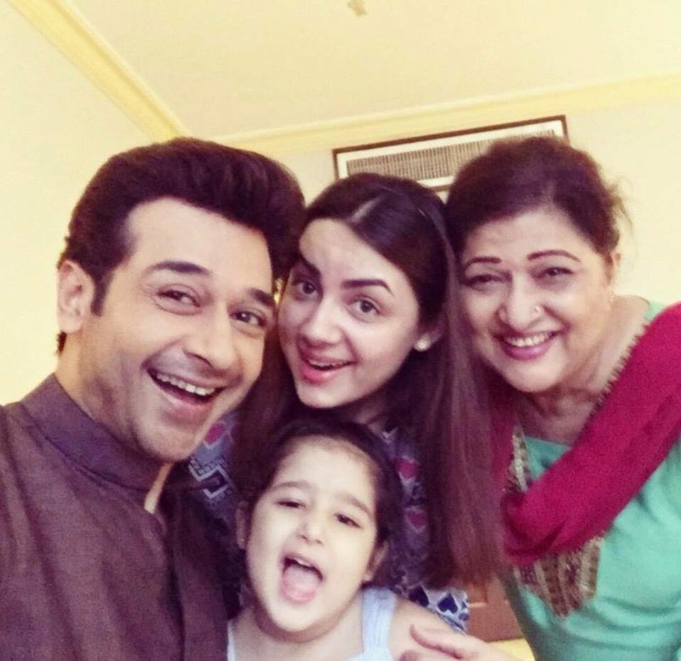 Faysal Qureshi with Mother Wife And Daughter