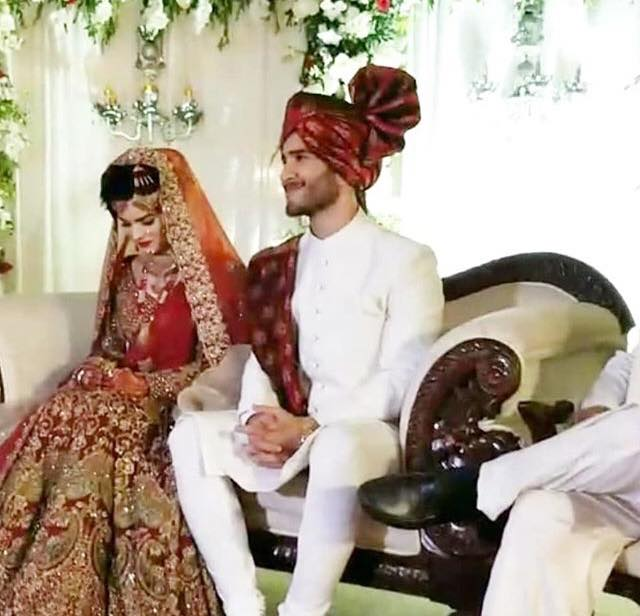 Feroze Khan With His Bride Alizeh