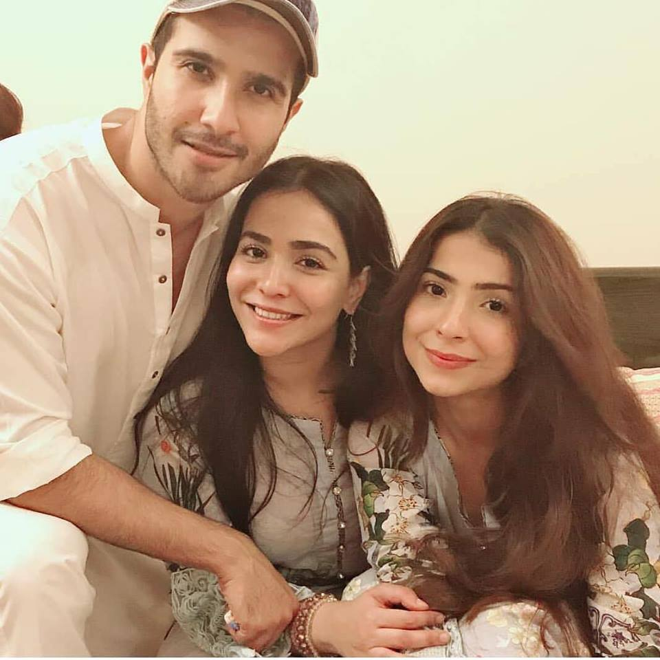 Feroze Khan With His Sisters