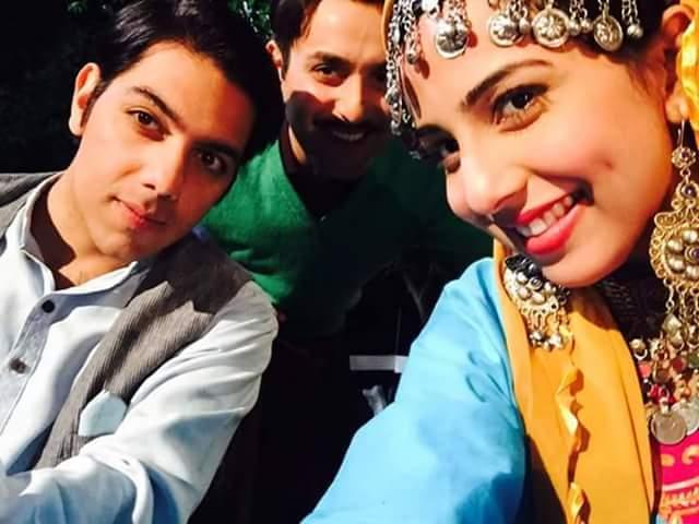 Gohar Mumtaz with Waheed & Ushna shah in Kashmir