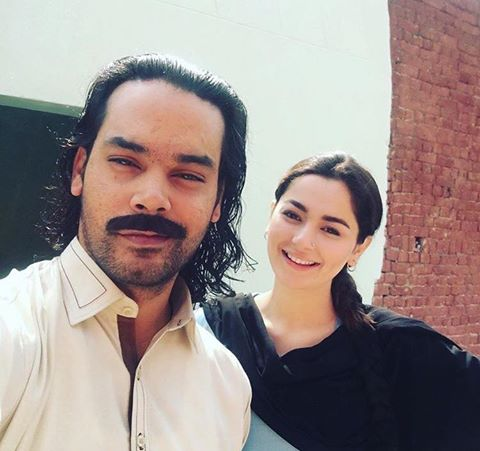 Gohar & Hania On The Sets Of Upcoming Project