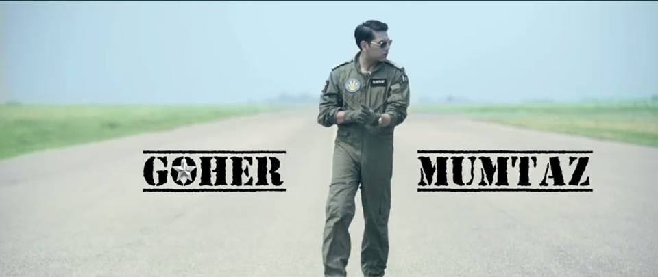 Goher Mumtaz Look in PAF Song Ooncha