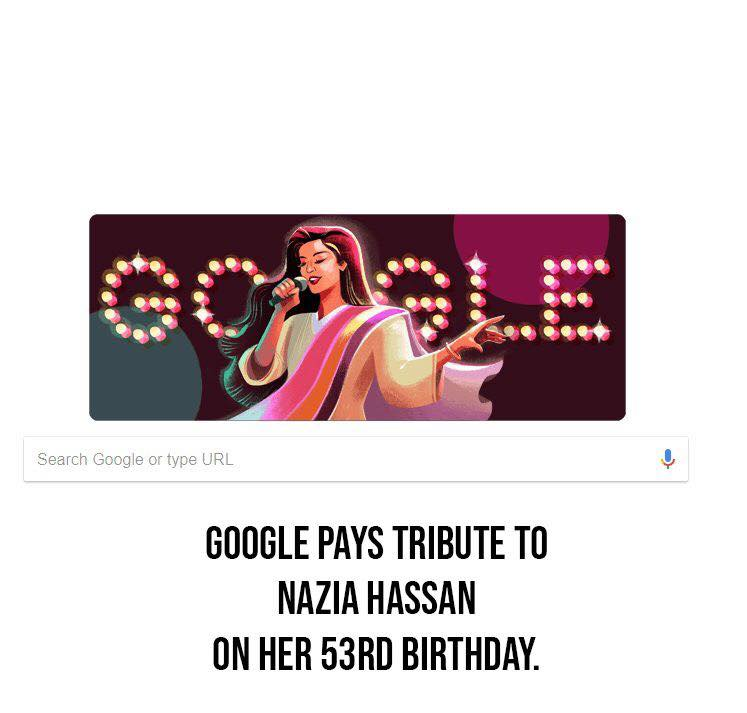 Google Pays Tribute To Nazia Hassan On Her 53rd Birthday