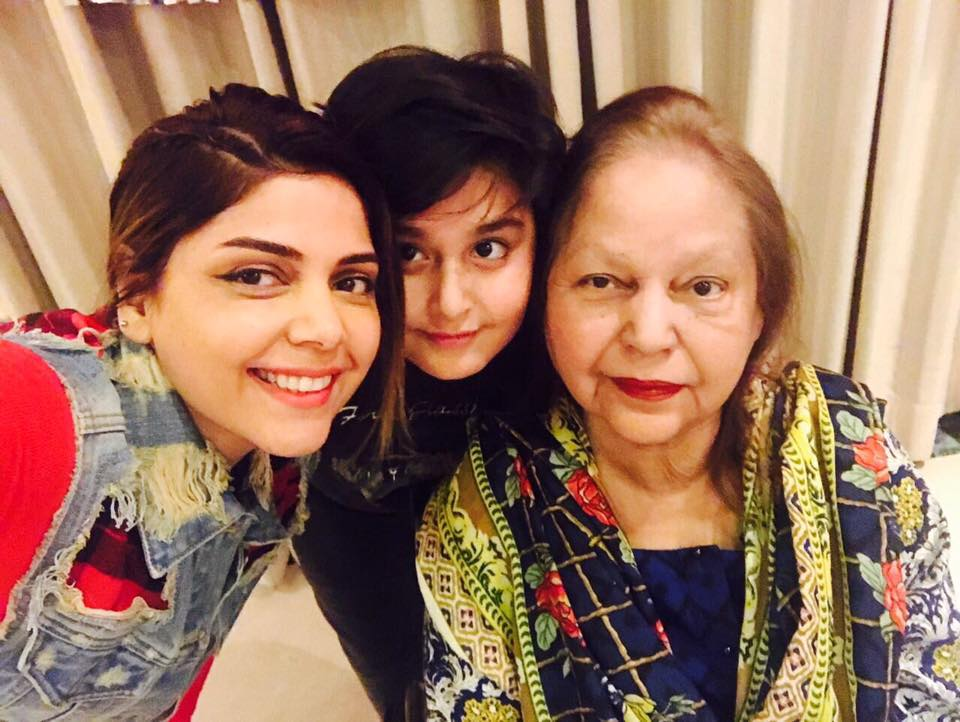 Hadiqa Kiani With Her Mother & Son