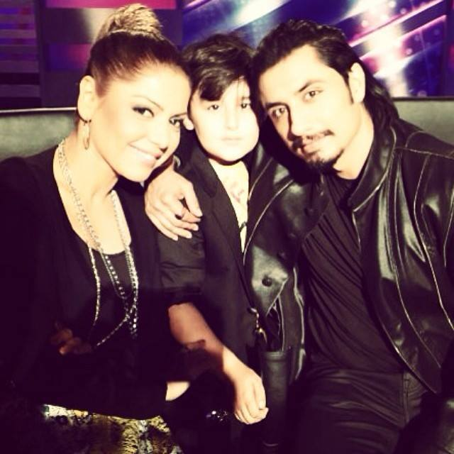 Hadiqa Kiani With Her Son And Ali Zafar