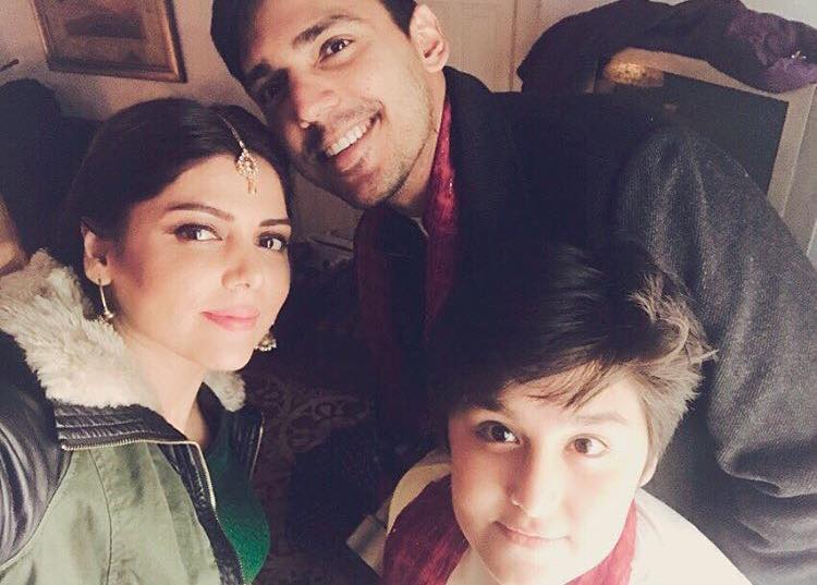 Hadiqa Kiyani With Her Son & Nephew