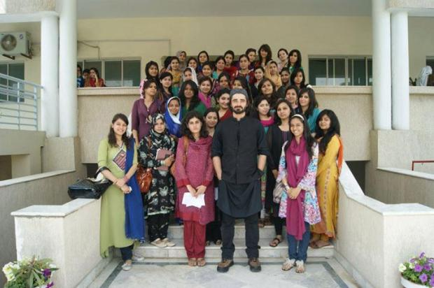 Hamza Ali Abbasi At University Of Rwp Girls For Acting Workshop