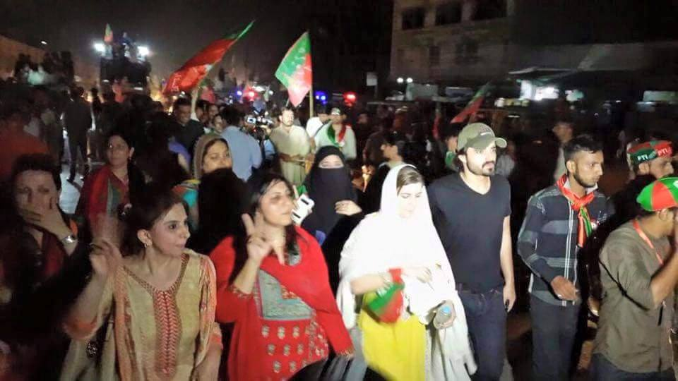 Hamza Ali Abbasi Once Again At PTI Jalsa