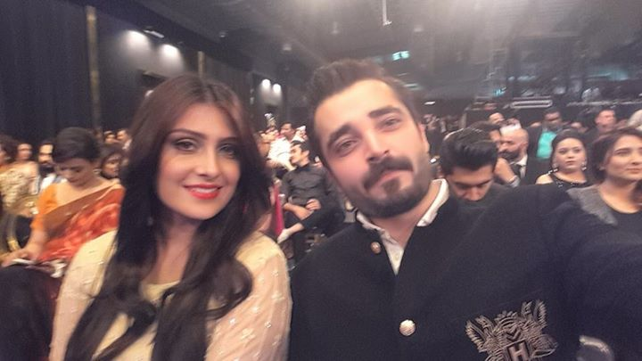 Hamza Ali Abbasi and Aiza Khan in LSA 2015