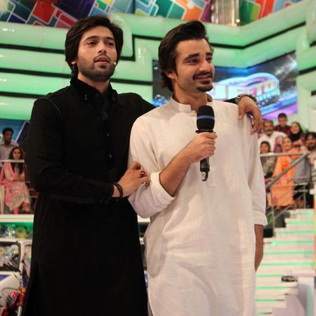 Hamza Ali Abbasi with Fahad Mustafa in Jeeto Pakistan