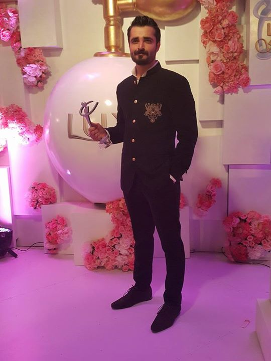 Hamza got Best Actor at the Lux Style Awards