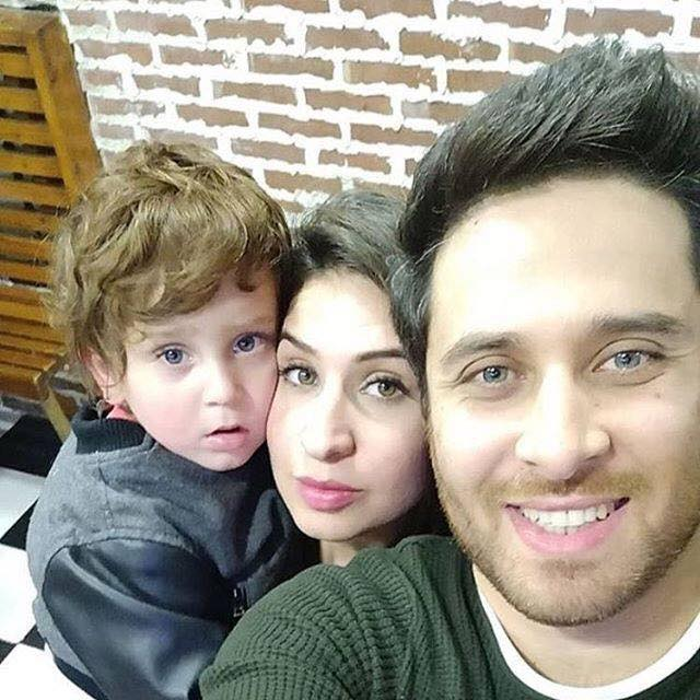 Haroon Shahid With His Cute Son & Wife