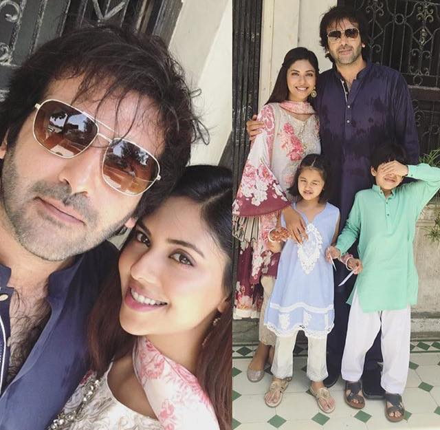 Hasan Ahmed & Sunita With Their Kids On Eid