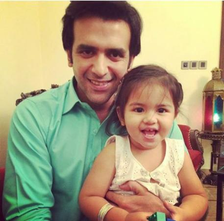 Hassan Ahmed With His Daughter