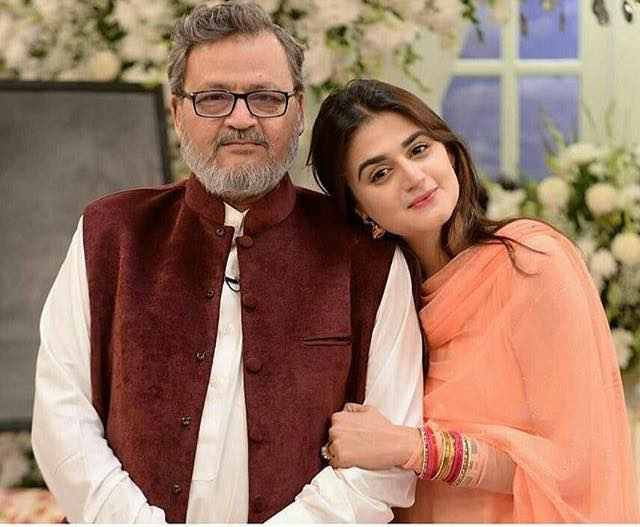 Hira Mani With Her Father