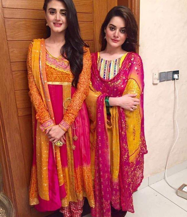 Hira Mani & Minal Khan On The Sets Of  Drama