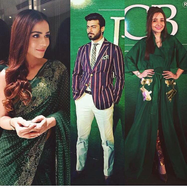 Humaima, Fawad, and Juggan at PSL Launch