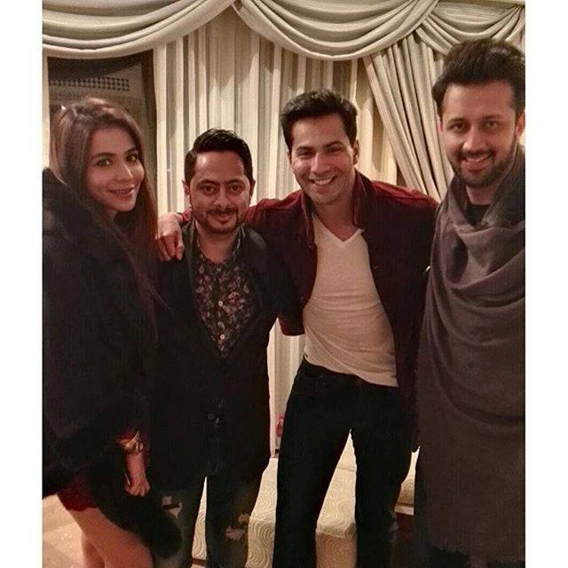 Humaima Malik, Atif Aslam and Varun at Party in Dubai