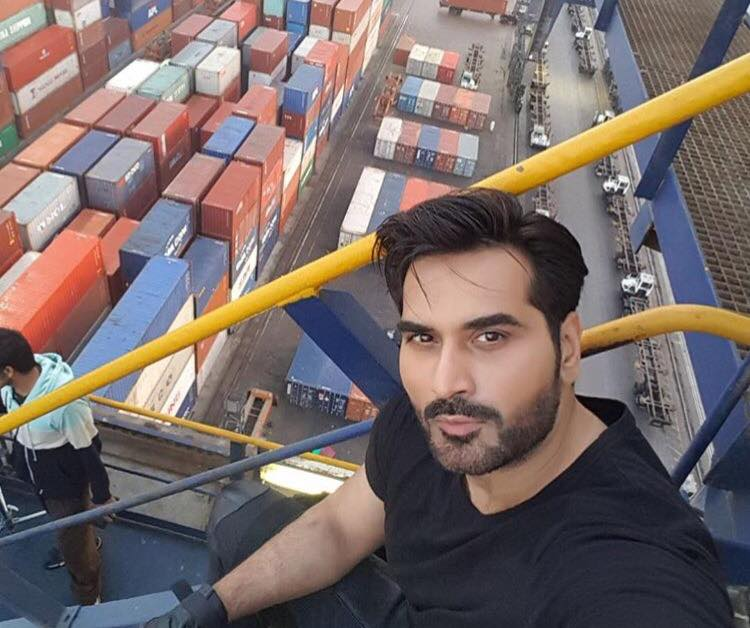 Humayun Saeed During The Shooting