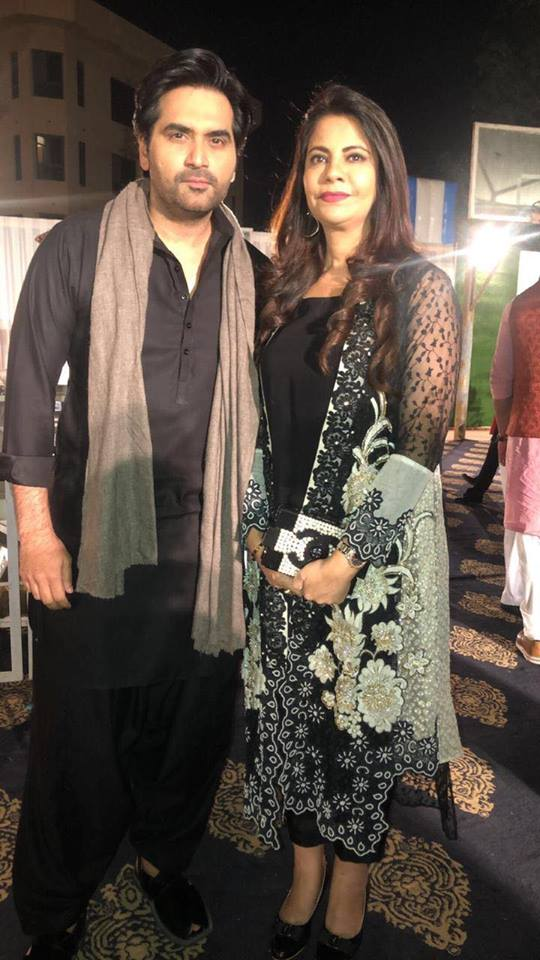 Humayun Saeed With His Wife