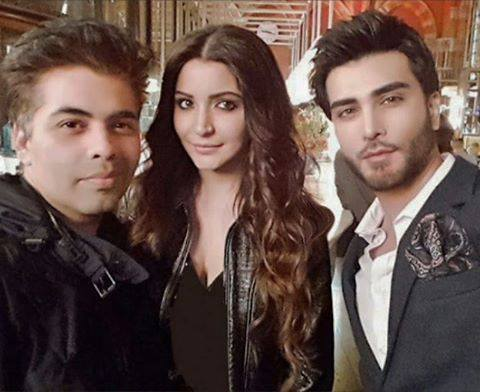 Imran Abbas with Karan Johan and Anushka Sharma