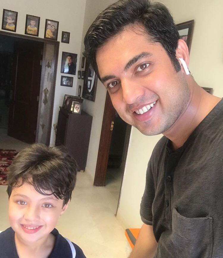 Iqrar Ul Hassan With His Son