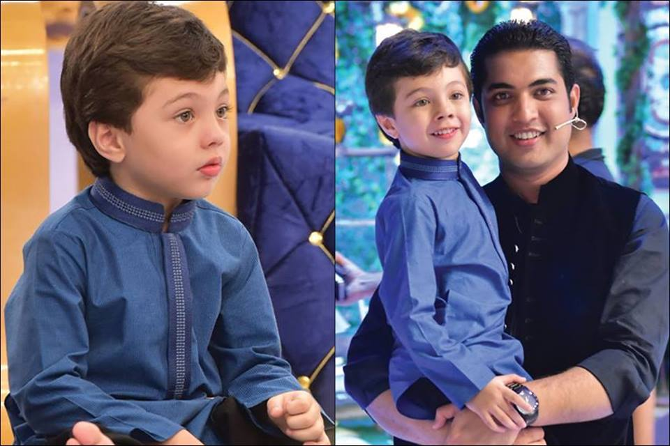Iqrar-ul-Hasan With Son In Iftar Transmission