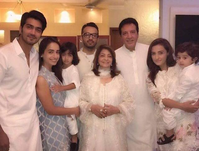 Javed Sheikh With His Family