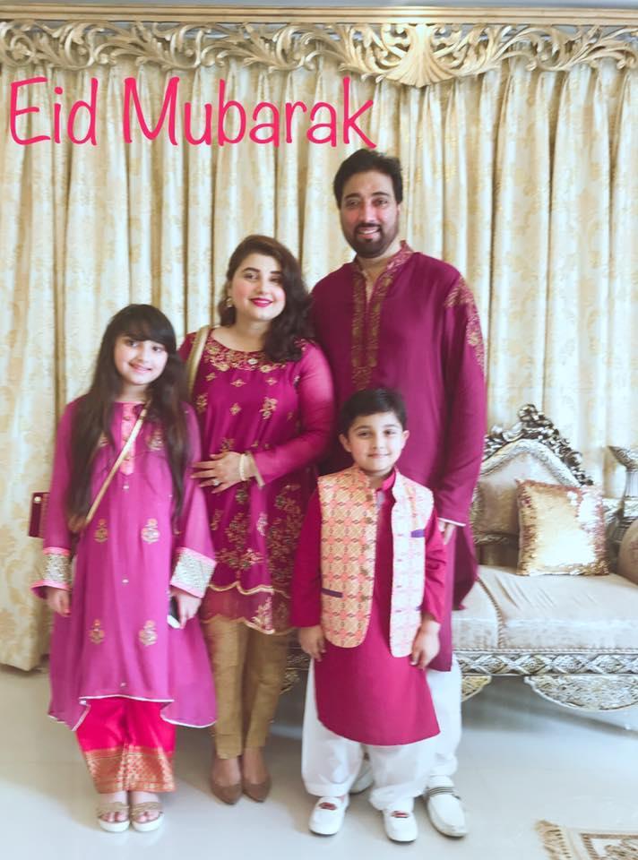 Javeria Saud With Her Family On Eid