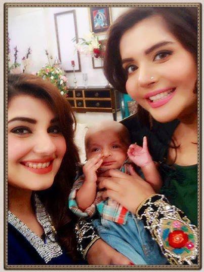 Javeria With Nida And Her Son Behlaj