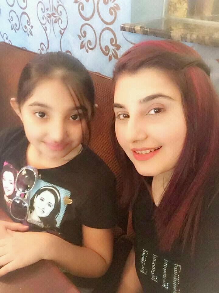 Javeriya Saud With Her Daughter