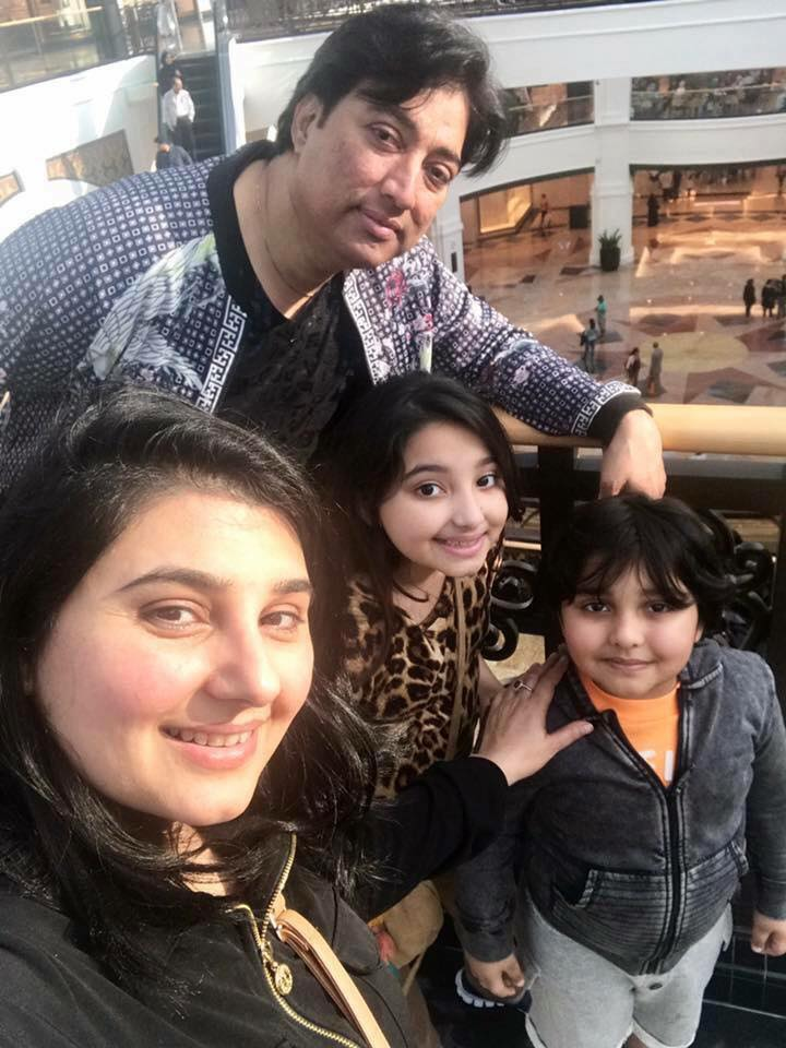 Javerria Saud With Her Family In Dubai