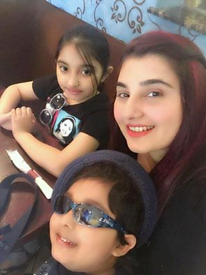 Jawaria Saud‬ With Her Kids