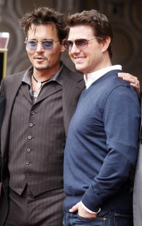 Johnny Depp, Tom Cruise Snapped together